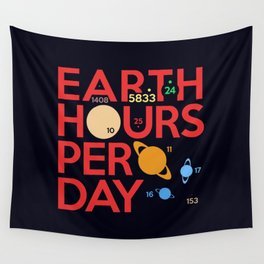Earth Hours Per Day Wall Tapestry