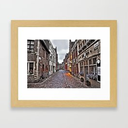 Streets of Brugge, Belguim Framed Art Print