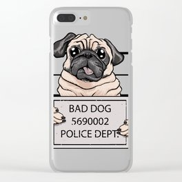 mugshot dog cartoon. Clear iPhone Case
