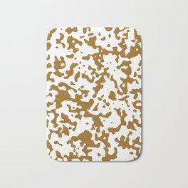Spots - White and Golden Brown Bath Mat