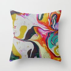 marble red&gold Throw Pillow