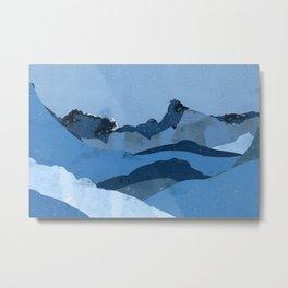 Mountain X Metal Print