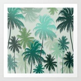 Summer palm trees Art Print