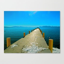 Tahoe Dock Canvas Print