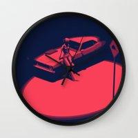 picard Wall Clocks featuring Peachy by Anton Marrast
