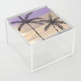 two palm trees euphoric sky Acrylic Box