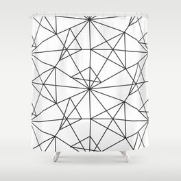 Contemporary black white abstract geometrical Shower Curtain