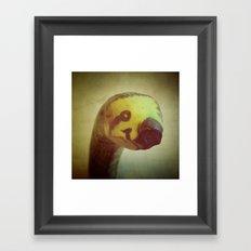 Banana Sloth Framed Art Print