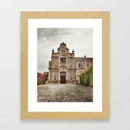 ancient monastry. Spain Framed Art Print
