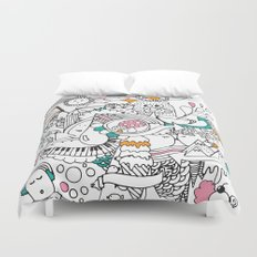 My Happy Doodle Duvet Cover