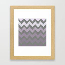 Grey and Lavender Chevron for Cosmos Glow Framed Art Print