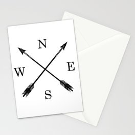 Arrows NSEW Stationery Cards