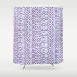 Lilac Abstract Fish Net Loop Pattern Shower Curtain