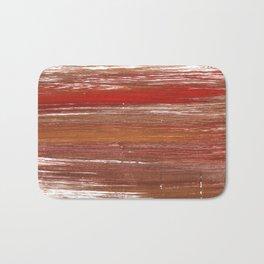 Chestnut abstract watercolor Bath Mat