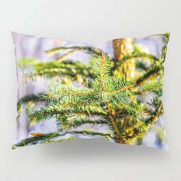 Christmas Tree Raises In The Forest Pillow Sham
