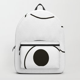 Goofy Funny Monster Face With Buck Teeth Design graphic Backpack