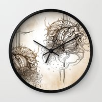 fruit Wall Clocks featuring Fruit by Irina Vinnik