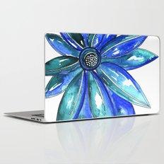 Blue Watercolor flower Laptop & iPad Skin