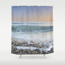 """Looking at the waves III"" Sea dreams Shower Curtain"