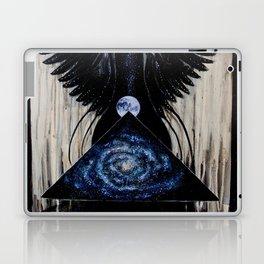 Between the Worlds // Visionary Art Woman Goddess Feminine Earth Moon Planets Stars Laptop & iPad Skin