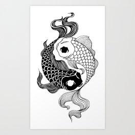 Yin Yang Tents Art Print