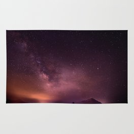 Purple Sky over Mountains Rug