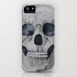 Human skull watercolour iPhone Case
