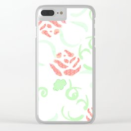 zakiaz pink roses Clear iPhone Case