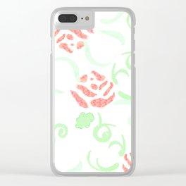 zakiaz pink roses Clear iPhone Case