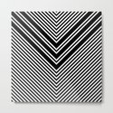 Back and White Lines Minimal Pattern No.1 by alvestegui