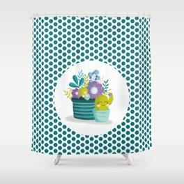 Joyeux cactus Shower Curtain