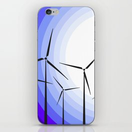 Windmills - Moonrise iPhone Skin