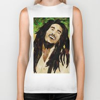 marley Biker Tanks featuring Marley Collage by Emily Harris