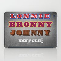 lebron iPad Cases featuring Lonnie, Bronny, Johnny by Melissa Olson