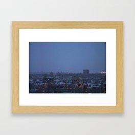 Montreal Fog Framed Art Print