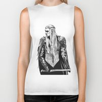 thranduil Biker Tanks featuring Thranduil by Lydia Joy Palmer