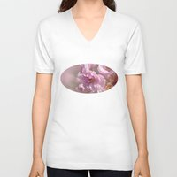 cherry blossom V-neck T-shirts featuring Cherry Blossom by Fran Walding