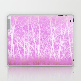 Frosted Winter Branches in Misty Pink Laptop & iPad Skin