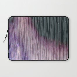 446 2 Lavender & Gray Watercolor Stain Laptop Sleeve