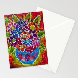 MARKET FLOWERS IN VASE Stationery Cards