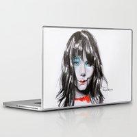 bjork Laptop & iPad Skins featuring Bjork Portrait by Raquel García Maciá