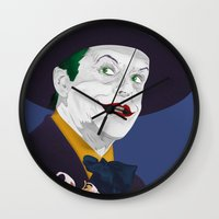 jack nicholson Wall Clocks featuring Joker Nicholson by FSDisseny