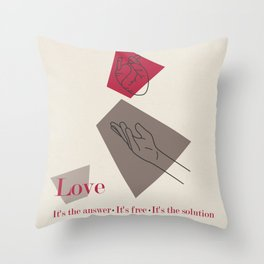 Love: Classic Throw Pillow