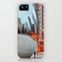Chicago Bean - Big City Lights iPhone Case