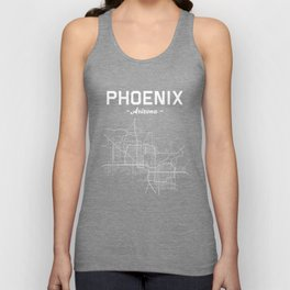 Phoenix, Arizona - b/w Unisex Tank Top
