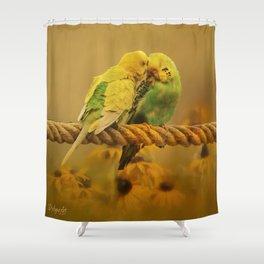 Love Byrds Shower Curtain