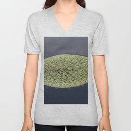 Crinkle Lily Pad Unisex V-Neck