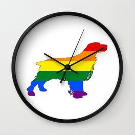 Rainbow Spaniel Wall Clock