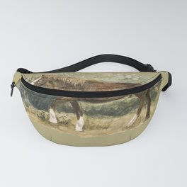 Wild Watercolor Pony Fanny Pack