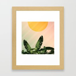 Sunny heliconia Framed Art Print